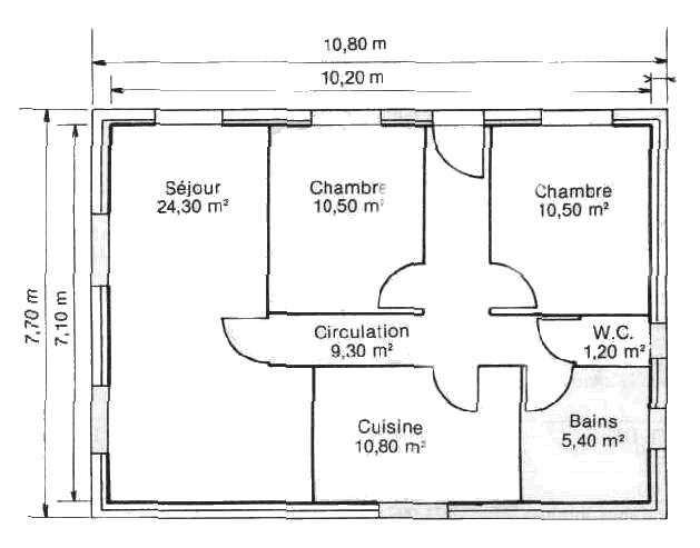 exceptionnel taille moyenne d une maison 4 il su0027agit du0027une maison individuelle situ e. Black Bedroom Furniture Sets. Home Design Ideas